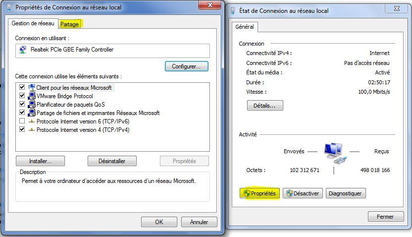 Partage connexion2 - Comment ameliorer la connexion internet ...