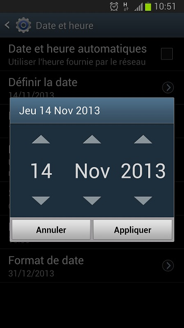 Date-smartphone-android